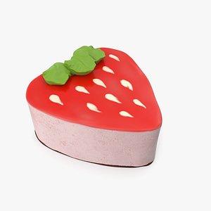 3D Strawberry Yoghurt Cake
