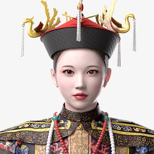 Chinese Empress of Qing Dynasty 3D model