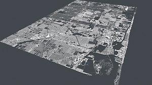 3D Cityscape  Miami Florida USA model