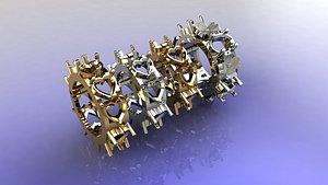 4 ring 3D model
