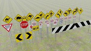 3D road signs australia