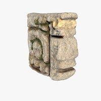 Mayan face ancient sculpture