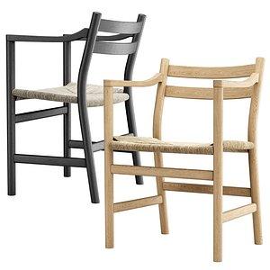 Carl Hansen chair CH 46 3D