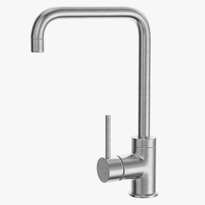 Angular Single Lever Sink Mixer 3D model