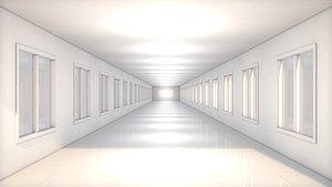 corridor sci fi 3D model