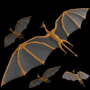 pterodactyl rigged model
