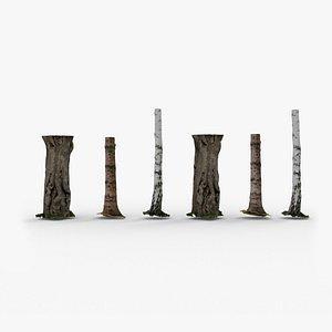 Photorealistic Tree Trunks 3D model
