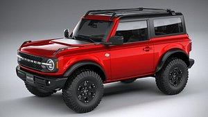 Ford Bronco Wildtrak 2door 2021 3D model
