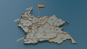 colombia state cities 3D