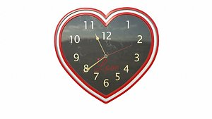 heart clock 3D model