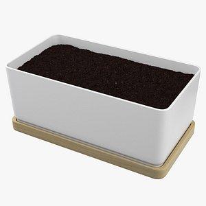 Planter With Soil 3D model