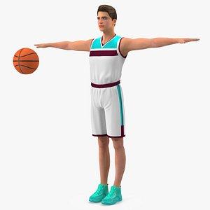 Teen Boy Basketball Neutral Pose 3D model