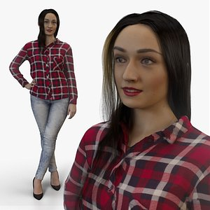 Elegant Woman Ready-Posed RLA003 3D