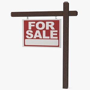 3D model For Sale Sign