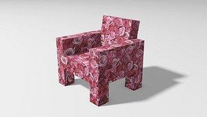 3D armchair roses