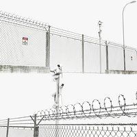Wire Fence and Security Camera
