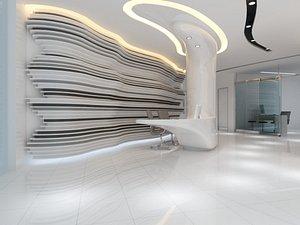 company office lobby 3D model
