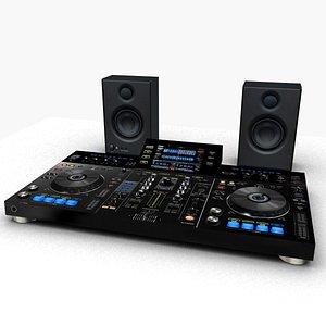 3D model dj music