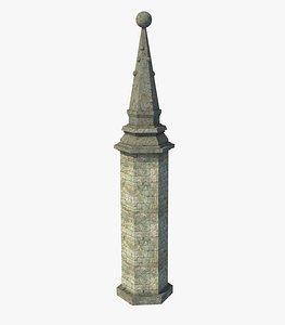 Fantasy Ancient Pillar Column 3D model