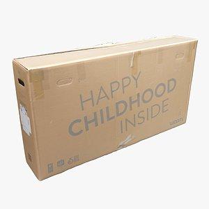 3D Cardboard Box 11 model