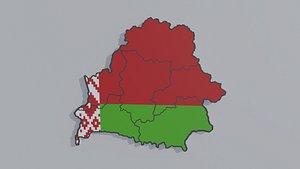 3D model Political Map of Belarus