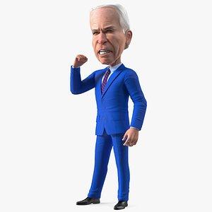 3D Cartoon Joe Biden Speaker Pose model