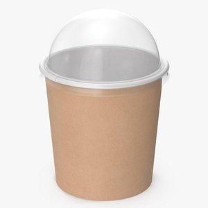 3D kraft paper food cup model