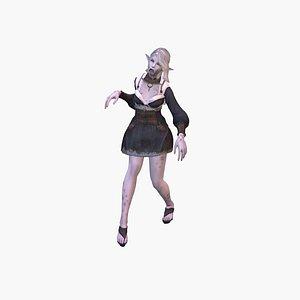 3D Zombie Girl