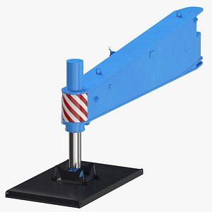 crane outrigger large 04 3D model