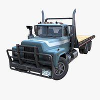 Industrial flatbed truck PBR