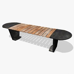 park bench iron 3D