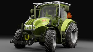 Detailed Tractor Gameready 3D model