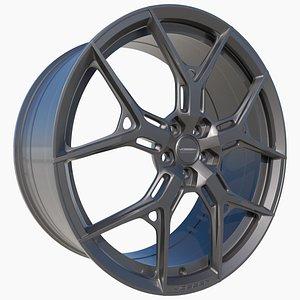 vossen hf5 wheel 3D
