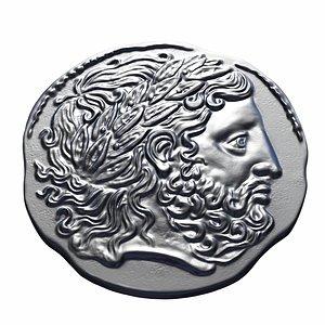 old greek coin 3d print model 3D