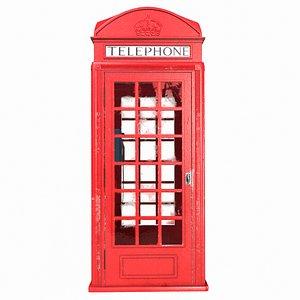 3D model london phone booth pbr