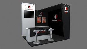 booth exhibit 3D model