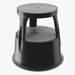 3D mobile kick stool tool model