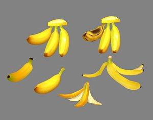 fruit banana peel 3D