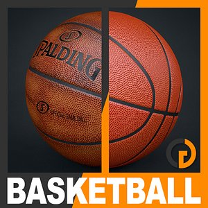 spalding official basketball balls 3d model