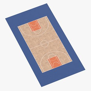 3D Basketball Surface 06 model