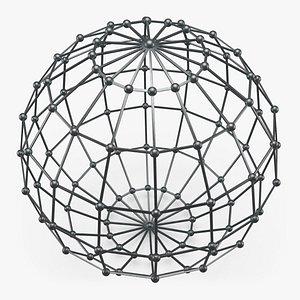 3D Wireframe Sphere 03 model