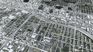 3D model Cityscape OrlandoFlorida USA
