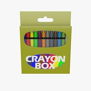 Crayon Box 3D model
