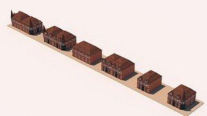 3D model house victorian build
