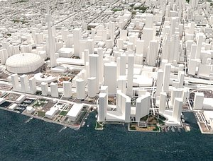 3D cityscape toronto canada city