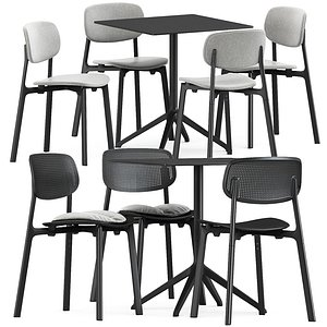 colander table chair 3D model