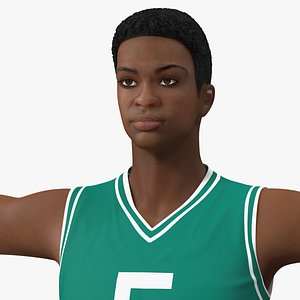 Light Skin Young Man Basketball Player Rigged for Maya 3D model