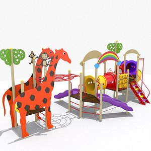 3D Playground Jungle Playset model