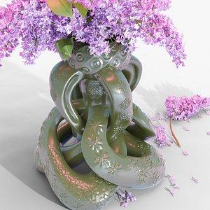 vase spiral knots flower 3D model