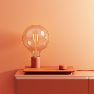 3D control table lamp